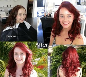 Beautiful Red Hair Colour | Best Hair Salon