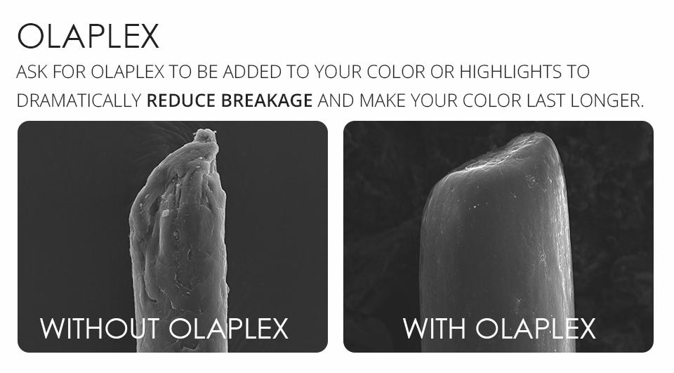 Olaplex reduces breakage