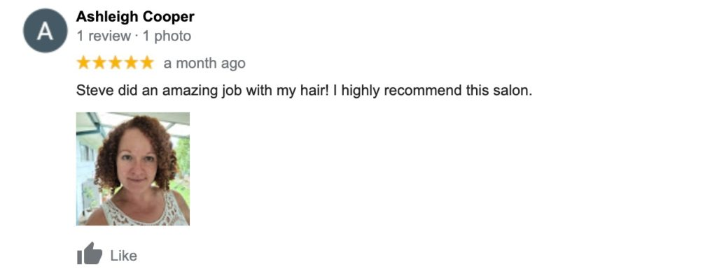 Ashleigh Cooper recommends Steve Wynder Hair & Beauty.